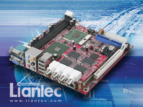 Liantec Mini-ITX Express EmBoard with Tiny-Bus PCIe Video Capture Module